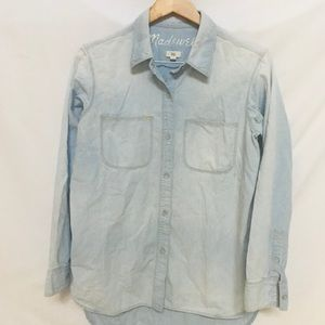Madewell Chambray Button Up Denim Shirt